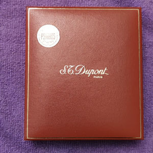 Dupont Paris αναπτήρας, ασημένιος, συλλεκτικός με χαρτιά και συσκευασία αυθεντικά. Κατάσταση mint σχεδόν αχρησιμοποίητος.