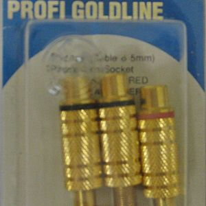 BANDRIDGE PG-1123(Cable Διάμετρος 5 mm)Phono Line Socker -GOLD (2 X BLACK + 2 X RED)