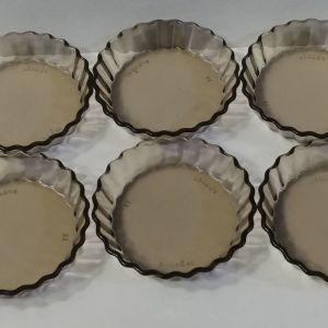 Δοχεία πυρεξ για τσιζκεικ/ τάρτες/γλυκά Arcoroc France 1960-1970