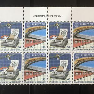ΕΛΛΑΔΑ-EUROPA 1988 ΤΕΤΡΑΔΑ ΜΝΗ