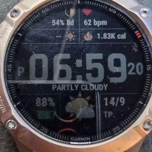 Garmin Fenix 6 Sapphire 47 mm orange, multisport smartwatch,