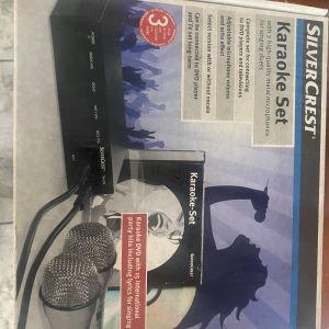 karaoke set μικρόφωνα silver crest