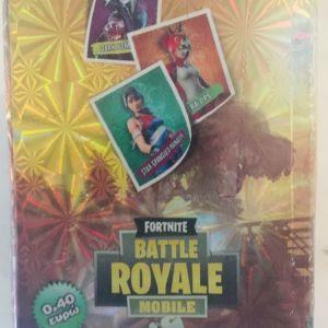 Fortnite BATTLE ROYALE MOBILE (αλμπουμ και κουτί με χαρτάκια)