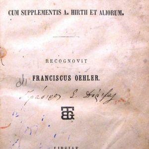 FRANCISCUS OEHLER, C. Iulii Caesaris Commentarii. Cum supplementis A. Hirtii et aliorum, Lipsiae 1865