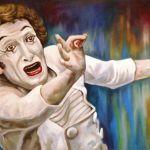 Πινακασ ζωγραφικησ Μαρσέλ Μαρσώ ,με λαδι σε καμβα.Τοποθεσία: Χανια
