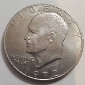 Dollar 1$ Eisenhower 1972 Δολάριο Αμερικής Συλλεκτικό Νόμισμα