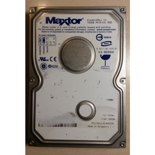esoterikos skliros diskos Maxtor DiamondMax 160GB