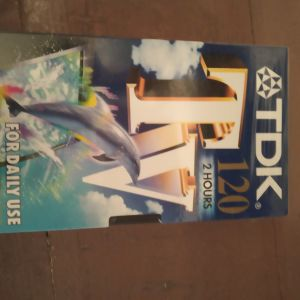 TDK video tape ( σφραγισμένη συσκευασία)