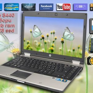 HP EliteBook 8440p   i5-m520 - RAM 8GB DDR3 / 128 SSD / KAMERA / 14,4 monitor