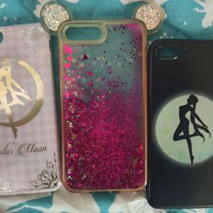 3 Θήκες iPhone 8 plus sailor moon κ μια με αυτακια