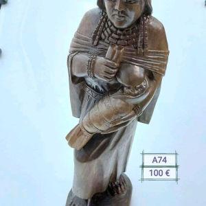 Εξαιρετικό ξυλογλυπτο αγαλμα