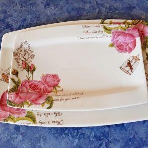 Σετ δύο ζωγραφιστά πιάτα τσαγιού - 2