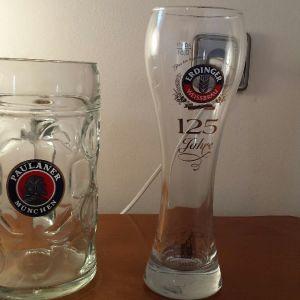 Συλλεκτικα ποτηρια μπυρας Paulaner ( 1,2 L) & Erdinger ( 0,5 L) & δωρο.