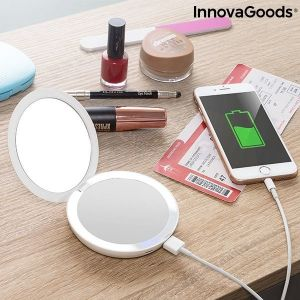 Καθρέπτης τσέπης με LED και Power Bank 3 σε 1 Mirbat InnovaGoods 3000 mAh