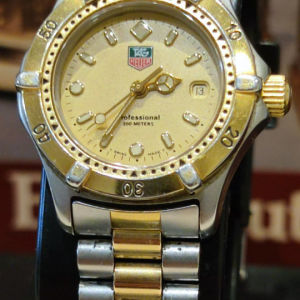TAG HEUER TWO TONE STAINLESS STEEL WATCH