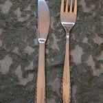 12 πηρουνια+12 μαχαιρια φαγητου ανοξειδωτα καινουργια