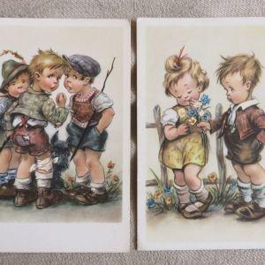 15 Vintage καρτ ποσταλ με παιδακια