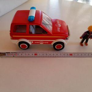 playmobil πυροσβεστικο οχημα δασοπροστασιας