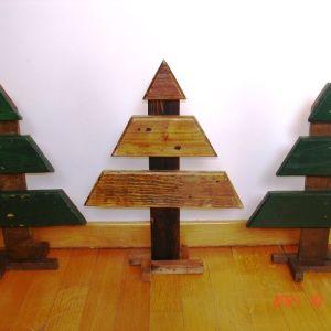 Ξύλινα  χριστουγεννιάτικα δεντράκια