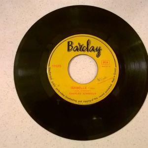 Vinyl record 45 - Charles Aznavour