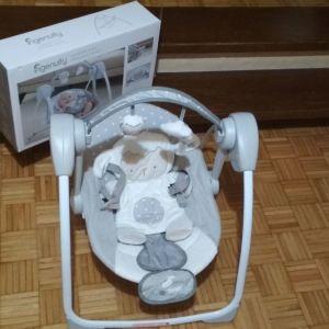 Ingenuity Relax Μωρού Κούνια Comfort 2 Go Portable Swing Cuddle Lamb