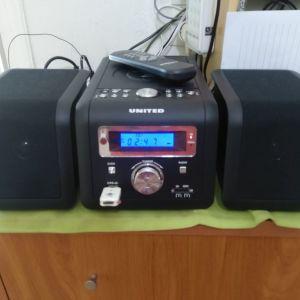 ΗΧΟΣΥΣΤΗΜΑ MICRO ME USB/CARD READER-CD MP3- ΡΑΔΙΟΦΩΝΟ UNITED