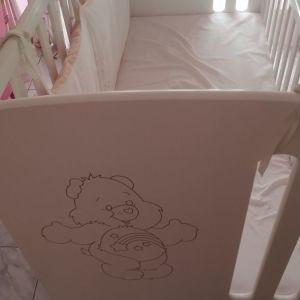 Κούνια μωρού μαζί με το στρώμα
