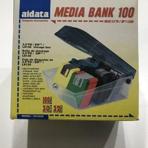 Aidata θήκη: θήκη για 100 δισκέτες ή 30 zip disks ή 32 LS120 disks