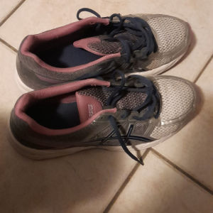 Παπουτσια αθλητικα 40,5 asics unisex γκρι μωβ