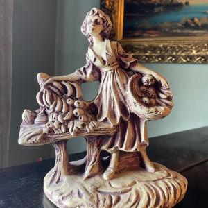 Vintage Γυναίκα με φρούτα Αγαλματίδιο