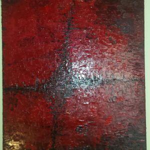 Αφηρημένη τέχνη. Ενυπόγραφος πίνακας μοντέρνος 60 x 80 εκ. Σύγχρονη ελληνική τέχνη ελαιογραφία σε καμβά. Έργο τέχνης ενυπόγραφο.