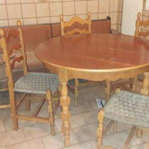 τραπεζι κουζινας με 6 καρεκλες