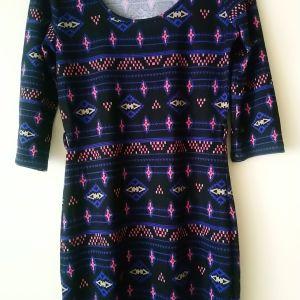 φόρεμα PINK ROSE mini  size M made in Vietnam  3/4 μανίκι μεταχειρισμένο