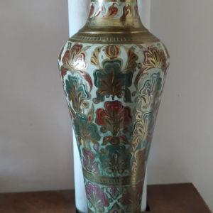 Vintage Ινδικό βάζο ορείχαλκο-σμαλτο .