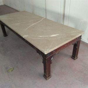 Τραπέζι σαλονιού ξύλινο με μάρμαρο