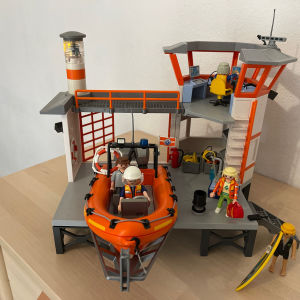 playmobil πλωτή βάση ακτοφυλακής με φάρο 5539