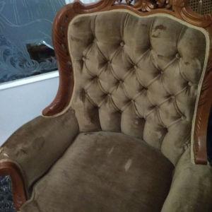 Καναπές τετραθέσιος με πολυθρόνες
