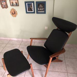 Πολυθρόνα με υποπόδιο (50's design)