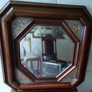 Καθρέπτης ξύλινος vintage 58x58εκ περίπου