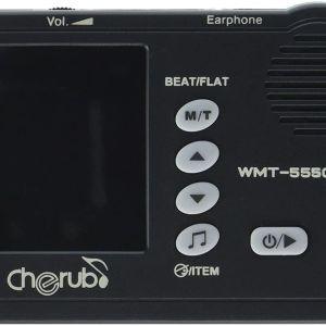 Μετρονόμος & Χρωματικό Κουρδιστήρι Cherub WMT-555C ( Μαύρο )