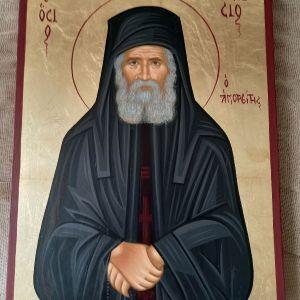 Άγιος Παΐσιος Χειροποίητη Αγιογραφία με φύλλο χρυσού 20×26εκ
