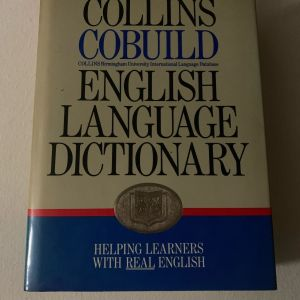Collins Cobuild English language dictionary 1992