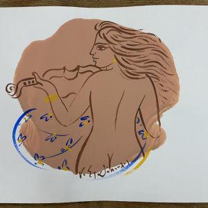 Ακρυλικό σε Χαρτόνι του Ζωγράφου Γ. Σταθόπουλου