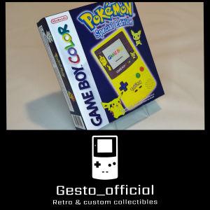 Pokemon Gameboy Color Pikachu Edition custom box Gesto_official