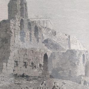 1860 θέατρο Ηρώδου του Αττικού ξυλογραφία