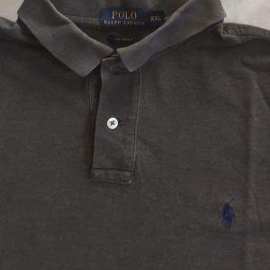 POLO RALPH LAUREN XXL DARK GREY CUSTOM FIT κοντομανικη μπλούζα