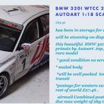BMW 320i WTCC 2005 #1 - PRIAULX - MONZA CHAMPION / AUTOart / 1:18 / DIECAST