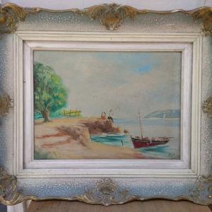 Παλιός πίνακας ελαιογραφία σε πολύ καλή κατάσταση (Α510)
