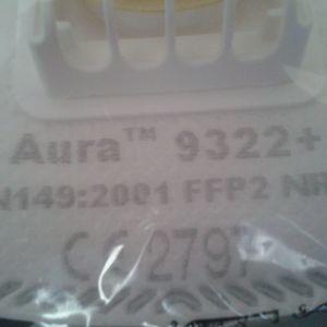 επώνυμες μάσκες FFP2 NR D της 3Μ AURA 9322+