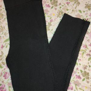 Μαύρο κολάν Zara με άνοιγμα στο πλάι διχτυωτο